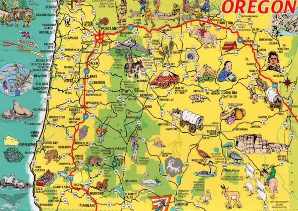 The beautiful state of Oregon - looks pretty busy too!