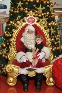 Frowning with Santa